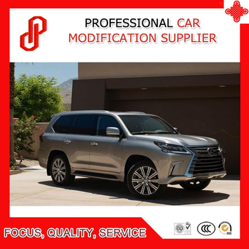 1 пара серебряный цвет привинчиваемый алюминиевого сплава стойка для багажника на крыше бар для LX570 2016 2017 >> GSU Professional Car Modification Store