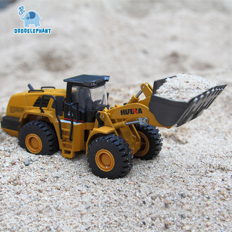 DODOELEPHANT 1:50 Alloy Mechanical loader Engineering Vehicle Excavator Car Vehicles Model Diecast For Boys Toys Gift Kid Toy