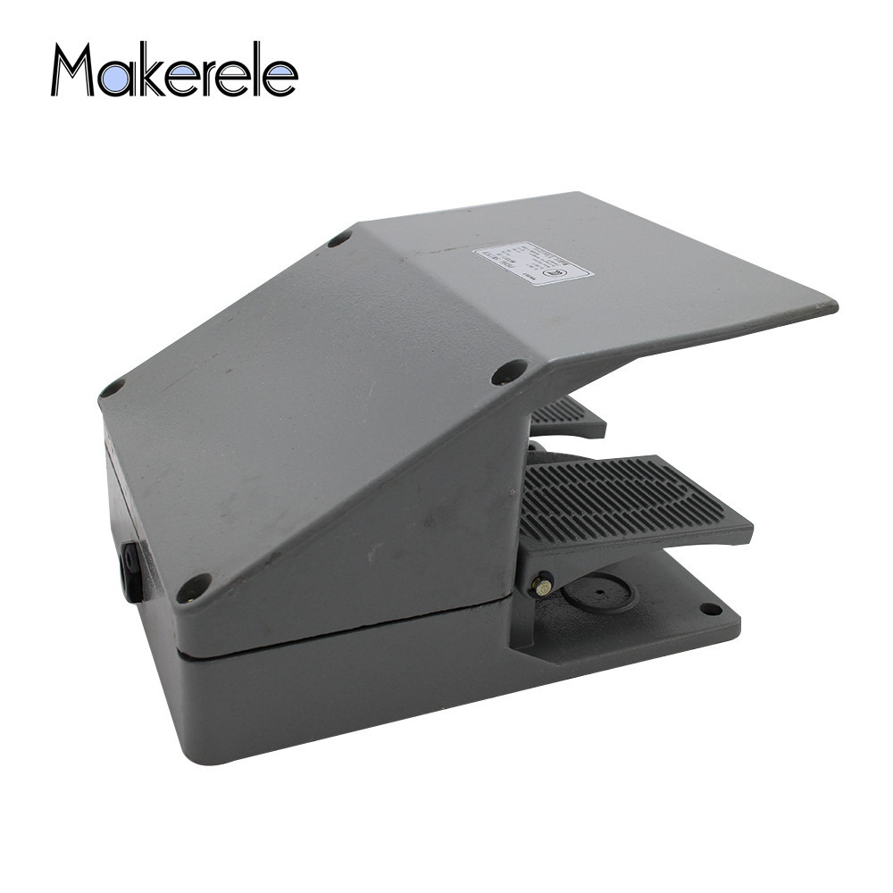 Newest Double Pedal MKYDT1-16 Foot Switch Pedal Foot Operated Switch Electrical 220/380V 10/15A Use For Bending Machine Punch