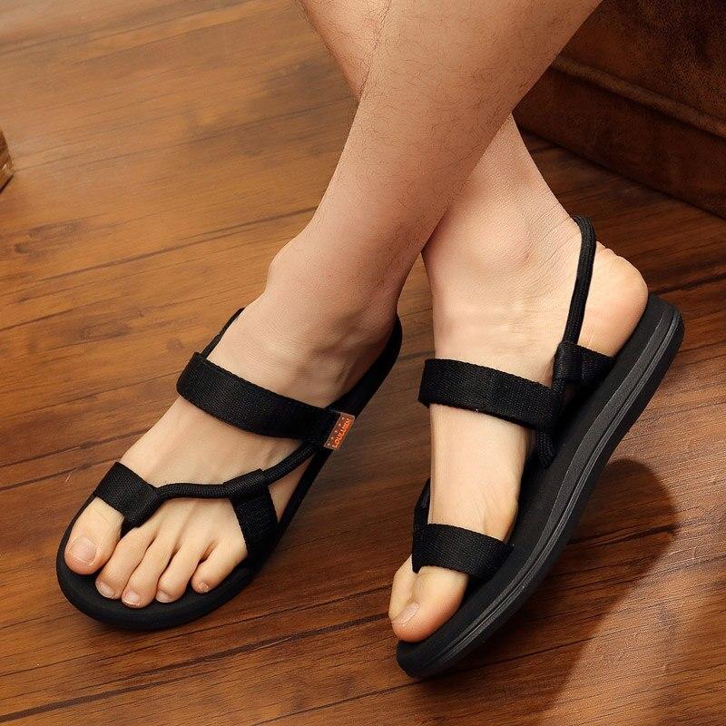 Sandalias de Hombre, Zapatos de playa de verano, sandalias romanas de gladiador transpirables, Zapatos masculinos, chanclas para adultos, Zapatos para Hombre