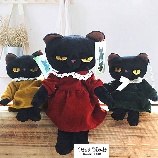 Japan Grumpy Cat Tamino Maita Black Cat Plush Doll Stuffed Animals