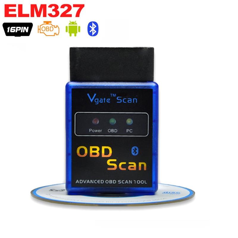 OBD2 ELM327, Bluetooth V2.1, detector de coche ELM 327, herramienta de diagnóstico OBD 2 para volvo, adaptador de escáner automático, herramienta de diagnóstico Obd2 escáner Mini elm327 Bluetooth V2.1 / V1.5 OBD2 herramienta de diagnóstico de coche ELM 327 Bluetooth para Android/Symbian para el protocolo OBDII