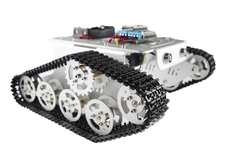 DIY T300 NodeMCU Aluminum Alloy Metal Wall-E Tank Track Caterpillar Chassis Smart Robot Kit все цены