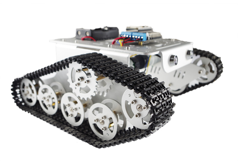 DIY T300 NodeMCU Aluminum Alloy Metal Wall-E Tank Track Caterpillar Chassis Smart Robot Kit metal track for diy robot tank car metal chain belt caterpillar width 4 5cm