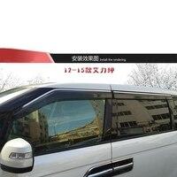 For Honda ELYSION 2012 2013 2015 Sun Rain Guard Window Visors Cover Trims Deflectors Shield Awnings