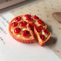 Venta al por mayor 100 Uds 3D Cute Kawaii fruta manzana resina de Pizza cabujones adecuado para chicas arco Centro decoración adorno accesorio DIY funda de teléfono