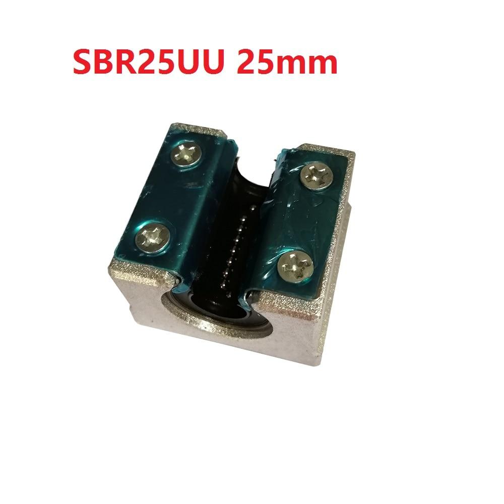 1PCS SBR25UU 25mm SBR25 Linear Motion Ball Bearing CNC Slide Bushing for linear shaft 3D printer parts