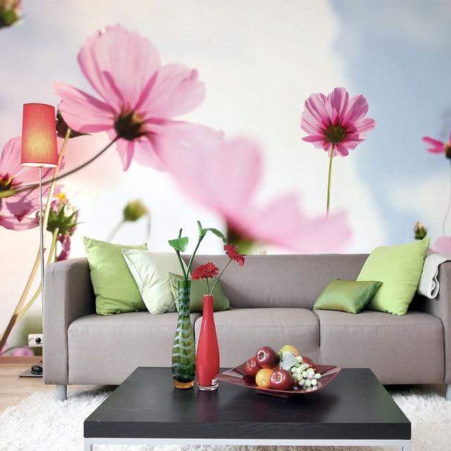 mordern brief 3d mural wallpaper fresh nature flower for bed wedding ...