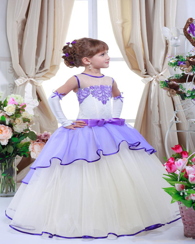 Buy lilac flower girl dresses and get free shipping on aliexpress izmirmasajfo
