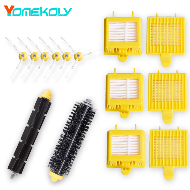 Hepa Filters Flexible Beater Brush 3-Armed Side Brush for iRobot Roomba 700 Series 760 770 780 790 Vacuum Cleaer Replacement hepa filters bristle brush flexible beater brush 3 armed side brush screw for irobot roomba 700 series 760 770 780 790