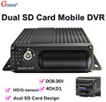 Free DHLGS-8204SD Mobile DVR Dual SD card Design, H.264 4CH D1 motion detective, cycle recording ,I/O,G-sensor,Vehicle DVR