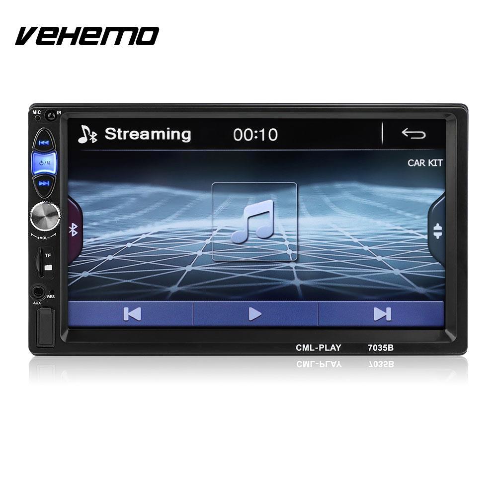 Vehemo Auto MP5 Player FM/USB/AUX 7035B Remote Control LCD Touch Screen Car Stereo Rear View Automobile Radio MP5 цена