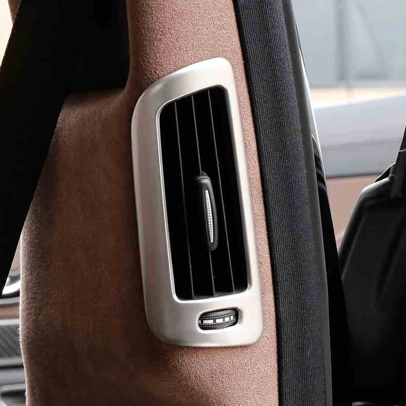 Car-Styling Interior Rear B Pillar Air Conditining Vent Outlet Cover Frame Trim For <font><b>Mercedes</b></font> Benz <font><b>W222</b></font> <font><b>S</b></font>-<font><b>Class</b></font> 300 320 350 400 image