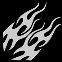 2PCS 27*90cm Car Flame Hot Fire Racing Hood Decal Vinyl Bonnet Sticker Art Vinyl Tattoo Front Sticker