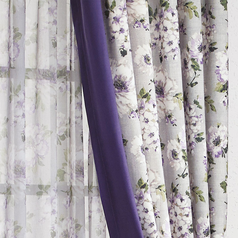 Aliexpress Purple Rustic Country Curtains Bedroom Ready Made Window Panel Living Room Luxury Print Fabric D Cotton Linen New From