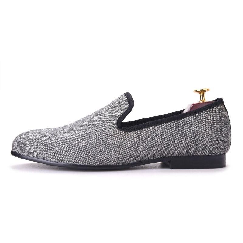 Pisos Hecho Tradicionales Mocasines Piergitar En Casuales Británico Zapatos A Mano Negro Gris Clásico Y Tweed Estilo Hombres Entretejido Los fwTUqFdTP