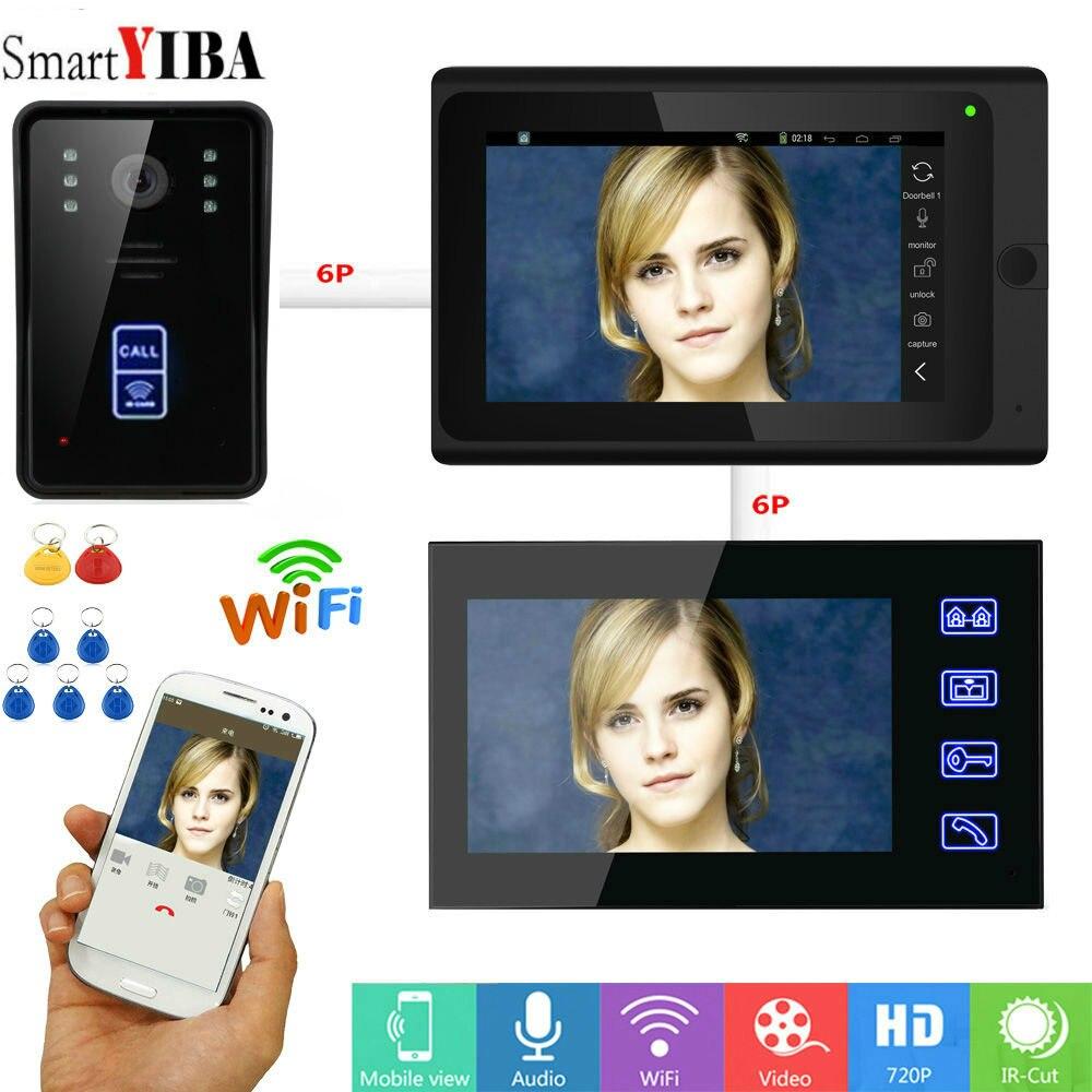 SmartYIBA RIFD/App Unlock WIFI Video Intercom 1000TVL HD IR Camera Max support 64GTF Card Wireless/Wired Doorbell DoorphoneSmartYIBA RIFD/App Unlock WIFI Video Intercom 1000TVL HD IR Camera Max support 64GTF Card Wireless/Wired Doorbell Doorphone