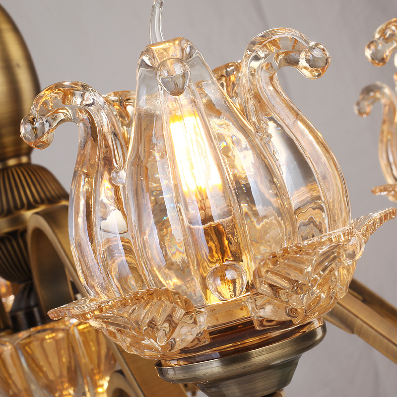 Yaşayış otağı lampaları üçün büllur çilçıraq şüşəli - Daxili işıqlandırma - Fotoqrafiya 3