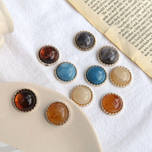 Сделай сам, изготовление ювелирных изделий, 40 шт./партия, цветные украшения из смолы, модные плоские бусины, ювелирные изделия, серьги/аксессуары для одежды