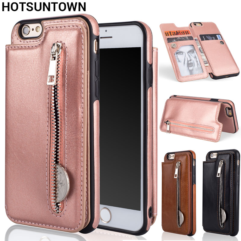 release date 7a39a e09fd US $7.66 34% OFF|For Coque iphone 6 Case Wallet Phone Cases TelefoonHoesje  iphone 6S Case Leather Flip Back Cover For Funda iphone 6 6S Plus Case-in  ...