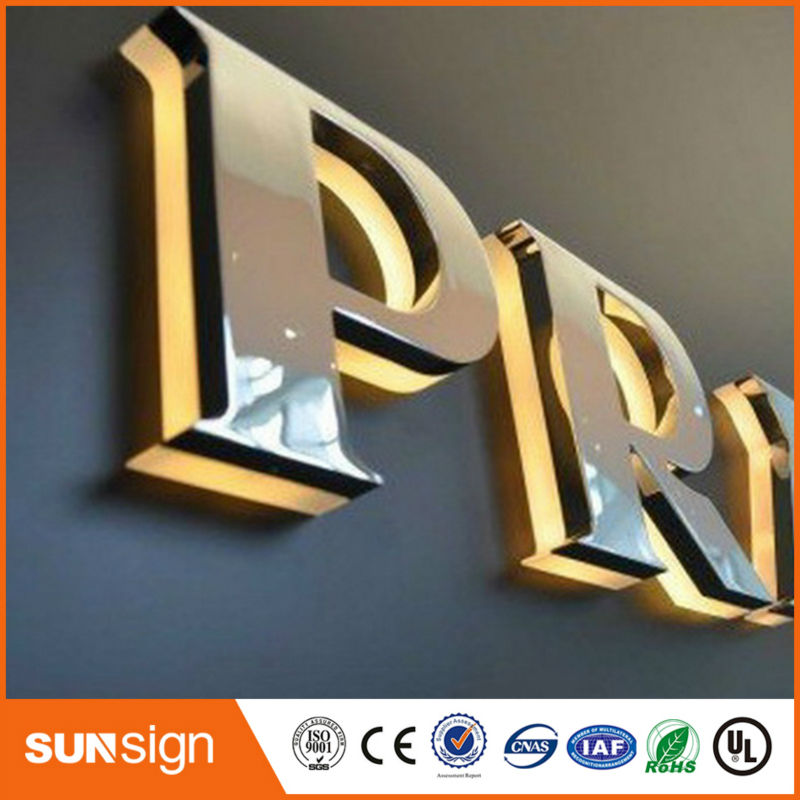 3D LED Backlit Signs / 3D LED Backlit Sign Letter / 3D LED Backlit Business Signs