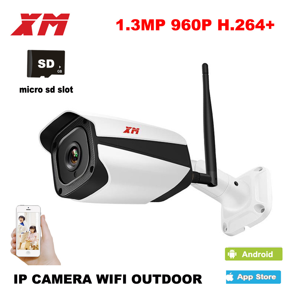 XM Outdoor Waterproof Bullet 960P IP Camera Wifi Wireless Surveillance Camera support Built-in Card CCTV Camera Night Vision wistino 1080p 960p wifi bullet ip camera yoosee outdoor street waterproof cctv wireless network surverillance support onvif