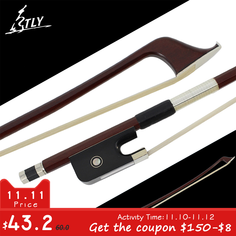 Hot Factory Store Brazilwood French-style Double Bass Bow 4/4 White Horsehair Fisheye Inlayed Ebony Frog w/ Colored Shell factory store high quality carbon fiber german style double bass bow 4 4 black horsehair ebony frog w colored shell