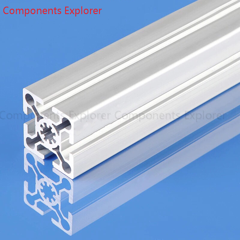 Arbitrary Cutting 1000mm 5050W2 Aluminum Extrusion Profile,Silvery Color.