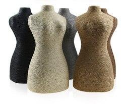 Kenevir Halat PVC Portre kolye teşhir standı Tutucu takı Manken Büstü Vücut Şekli Boyun Takı Ekran Standı 5.7*11.6 Inç