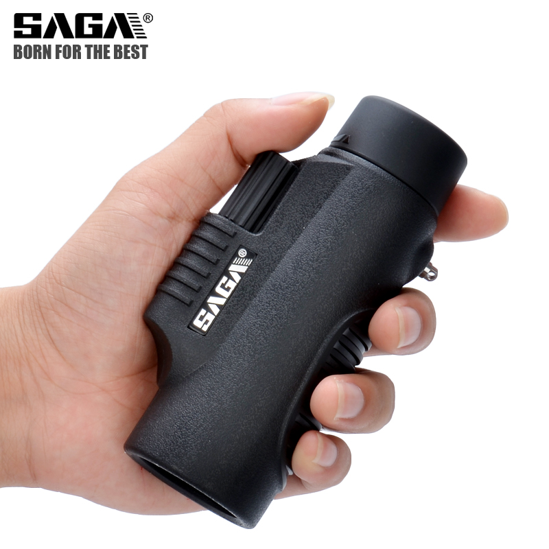 SAGA BAK4 8x32 10x42 Monocular Telescope HD Mini Monocular Outdoor Hunting Camping Scopes Phone