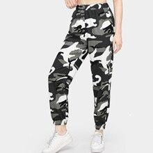 Womens Camo Cargo Trousers Casual Pants
