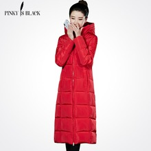 PinkyIsBlack Winter Coat Women 2019 And Autumn  Wear High Quality Jacket Outwear Long Parkas Thick Coats