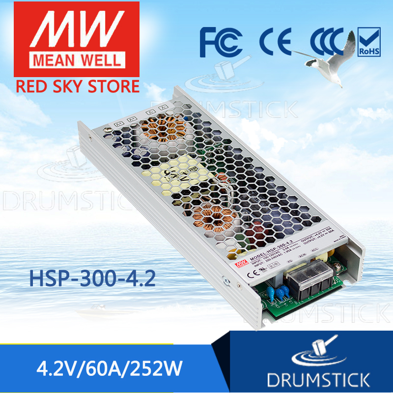 Hot sale MEAN WELL HSP-300-4.2 4.2V 60A meanwell HSP-300 4.2V 252W Single Output with PFC Function Power Supply все цены