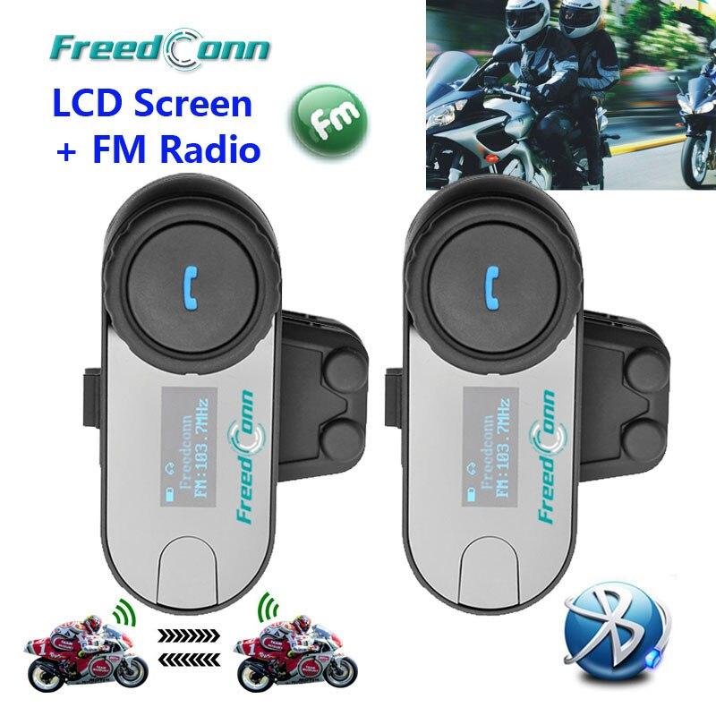 US $84 17 26% OFF FreedConn TCOM SC BT Interphone Bluetooth Motorcycle  Helmet Intercom Headset LCD Screen FM Radio,Soft Microphone for  CloseHelmet-in