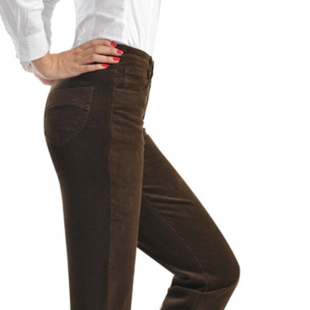 new autumn and winter high waist straight women pants velvet trousers Corduroy elastic waist women pants size 28-38,F3836