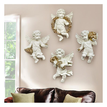 European Resin Modern Hanging Sculpture Murals Ornaments Artwork Statue Home Corridor Wall Hanging Decoration Creative