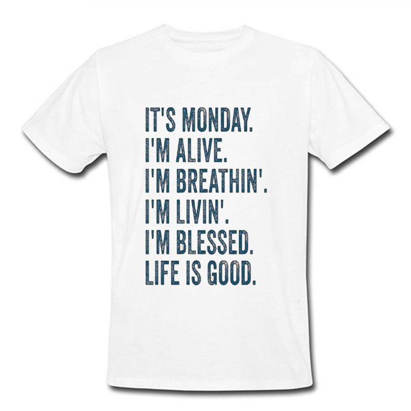 T-Shirt Monday Blened Gratitude Lifes Good Golfed Baseball Men Gift Jogger SH 83