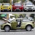 1:32 de Aleación Modelo de Coche SUV Para Evoque Juguetes Diecast Vehículo Colección Regalos Del Cabrito Supercar Modelo regalo de vacaciones