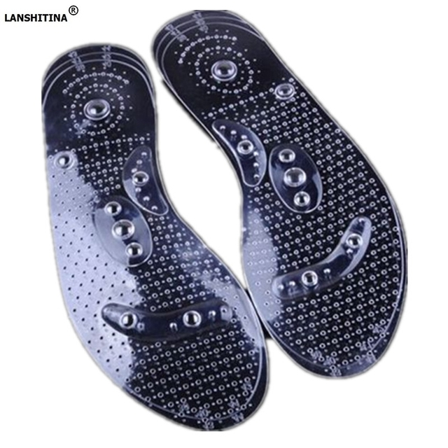2019 Pvc Shoes Pad Massage Comfort Insoles Foot Reflexology Magnet Magnetic Insoles Feet Care Shoe Accessories Foot Pad Insert