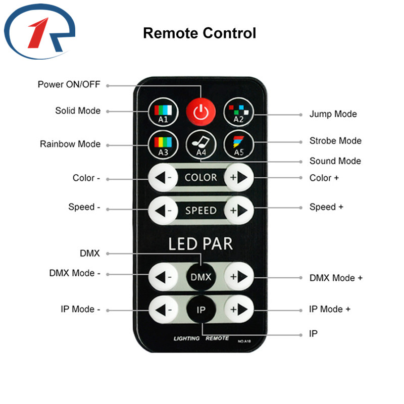 ZjRight 15W IR Remote RGBW LED Par lights Control de sonido dj disco - Iluminación comercial - foto 2
