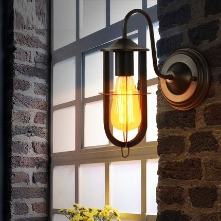 Retro Loft Style Edison Wall Sconce Iron Mirror Wall Light Fixtures Vintage Industrial Lighting Wall Lamp For Home Arandela цена