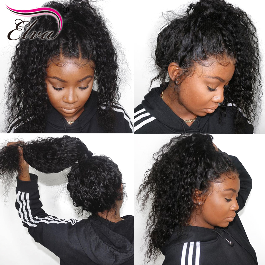 150 Density Lace Front Human Hair Wigs Pre Plucked With Baby Hair 13x6 Deep Curly Lace
