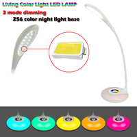 3 Modes Hose Can Be Adjusted LED Charging Desk Lamp Smart Touch Eyes Protective 256 Color