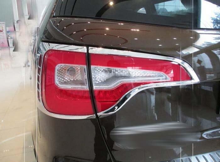 Chrome Tail Light Cover Trims For New Kia Sorento 2013