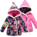 2016 Winter Children's Down Jacket Girls 2016 New Cute Bow Thick Warm Christmas Down Coat  Ror 2-5year