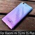 Caso de lujo para xiaomi mi 5S 5S más suave de tpu transparente degradado de color de protección cubierta posterior para xiaomi mi 5 splus 5S shell