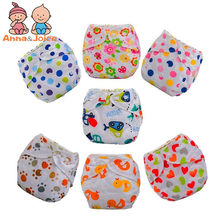 30pcs/lot new baby training pants Baby Diaper Washable Learning Pants Cotton Training Pant(China)