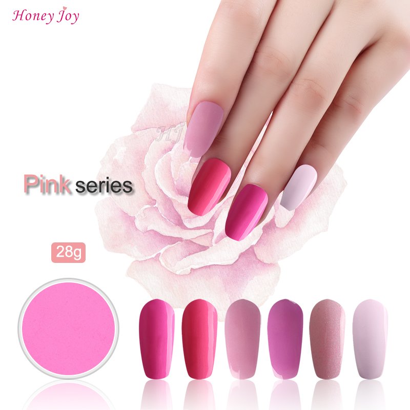 Spring Summer Pink Colors 28g/Box Dipping Powder Without Lamp Cure Nails Dip Powder Summer Gel Nail Color Powder Natural Dry