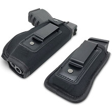 Étui de transport dissimulé pour pistolet étui universel en néoprène IWB avec étui supplémentaire pour toutes les tailles de chasse aux armes de poing