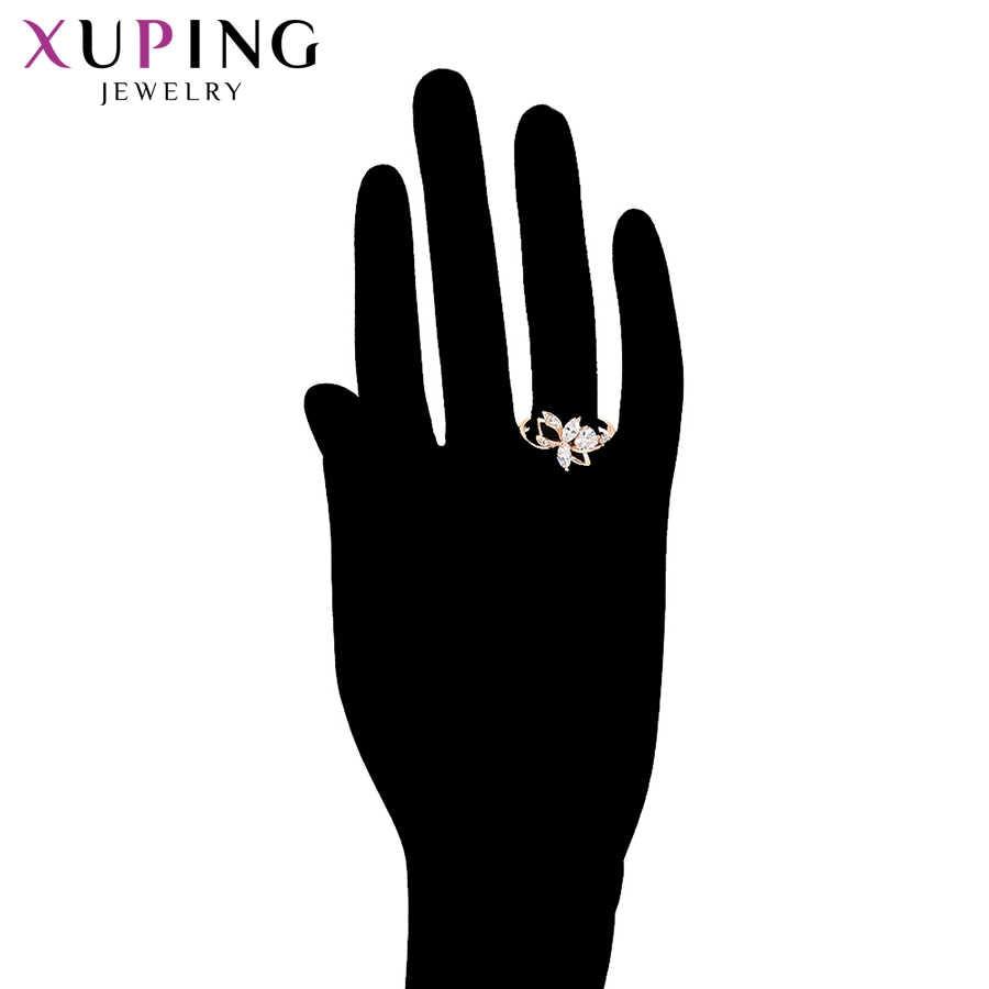 Xuping Fashion Perhiasan Set Mawar Kualitas Tinggi Warna Emas Plated Elegan Wanita Perhiasan untuk Wanita Hadiah Valentine S87-65254